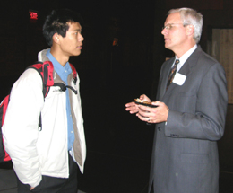 Wallin Scholar Jiake Chin with Tom Holman